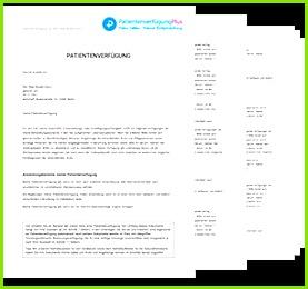 Muster Patientenverfügung PDF zum Download & Ausdrucken