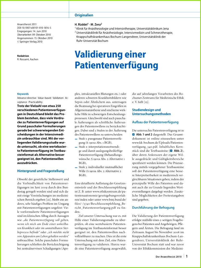 PDF Vali rung einer Patientenverfügung