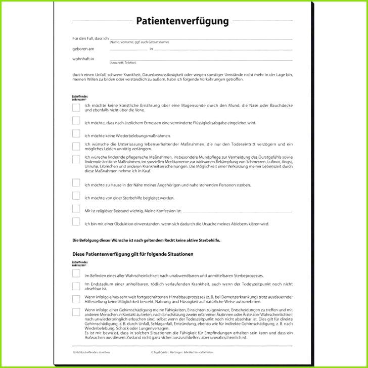 Patientenverfügung Vorlage Bundesministerium Beste Fein Patientenformular Vorlage Fotos Entry Level Resume