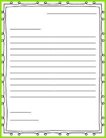 AHG Pen Pal Ideas Free letter writing outline paper Great for a friendly letter