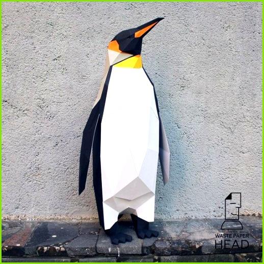 Papercraft penguin printable DIY template clevertivity•