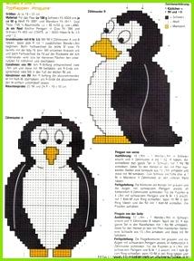 Potholders FREE CHARTS 5 14 Häkeln Crochet Stricken Und Häkeln Pinguin