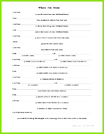Where I m From poem template PDF at the link Easily editable for younger students