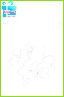 Heart Pop Up Card Pattern Sample template