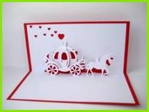 Pop Up Karten Pop up Karte Hochzeit Kutsche ein Designerstück von Bastel Preussin bei DaWanda