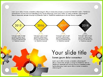 Zahnrad Puzzle Präsentation Konzept für PowerPoint Präsentationen jetzt herunterladen