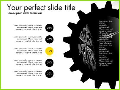 Zahnrad Zahnräder Präsentation Konzept Folie 3 Präsentationsvorlagen — PoweredTemplate