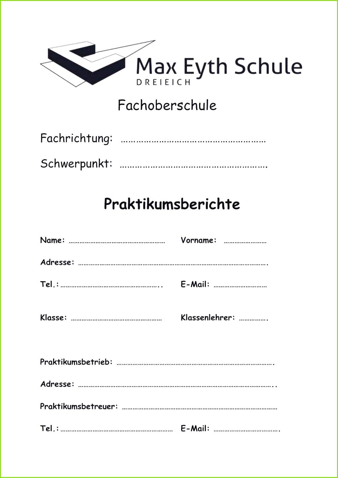 Deckblatt Für Praktikumsmappe Frisches Praktikumsmappe Deckblatt Vorlage Word