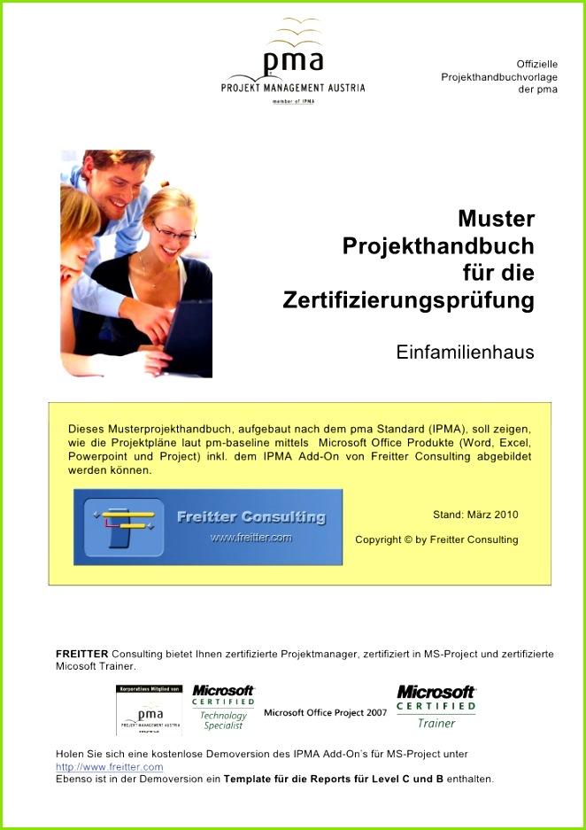 Muster Projekthandbuch Einfamilienhaus fizielle Projekthandbuchvorlage