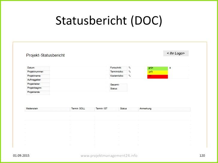 Projekt Statusbericht als Vorlage in Word zum Download