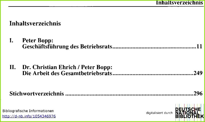 Protokoll Konstituierende Sitzung Betriebsrat Muster I Peter Bopp Geschäftsführung Des Betriebsrats 11 Dr Christian