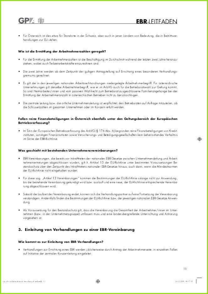 Protokoll Konstituierende Sitzung Betriebsrat Muster Leitfaden Zur Gründung Eines Ebr