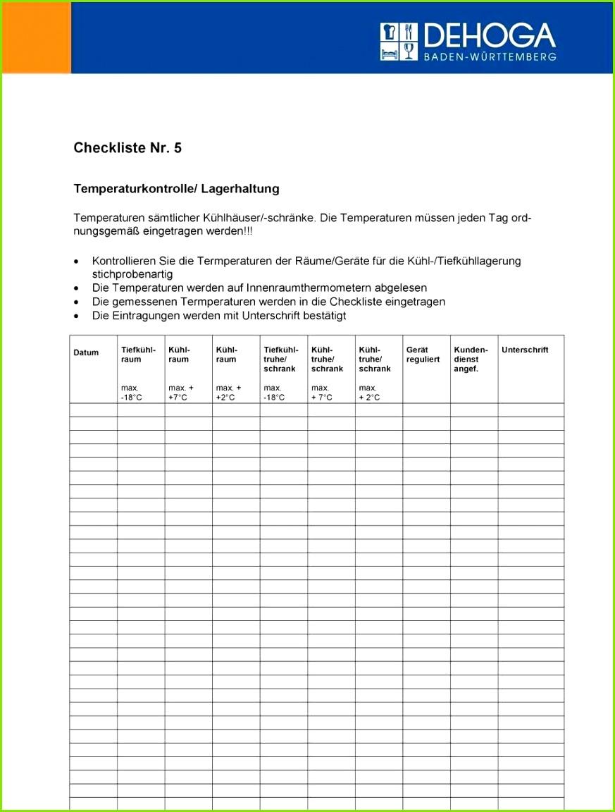 Reinigungsplan Gastronomie Vorlage Inspirierend Putzplan Gastronomie Special Temperaturkontrolle Gastronomie Vorlage