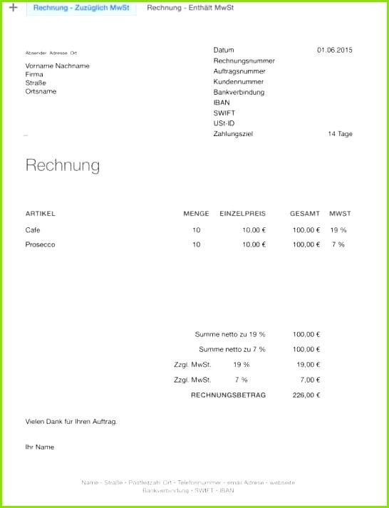 0d Freiberufler Rechnung Vorlage Probe Genial Rechnung In Die Schweiz Muster