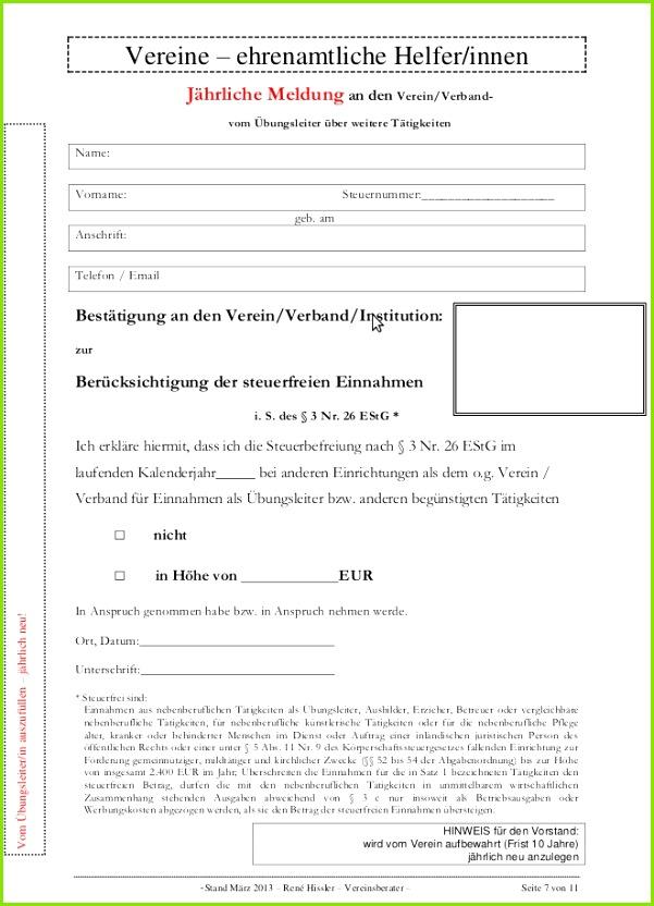 Rechnung übungsleiterpauschale Vorlage Beste Entlohnung Ehrenamtlicher Mitarbeiter Vertragsvorlagen