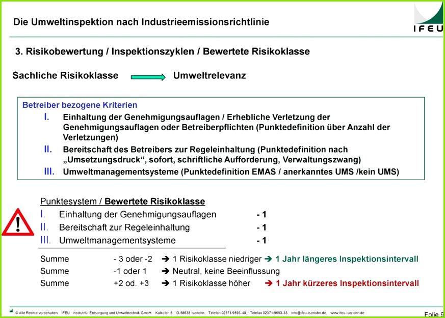 Rechtskataster Vorlage Basic Die Umweltinspektion Im Betrieb Von Der Vorbereitung Bis Zur Rechtskataster Vorlage