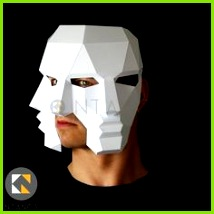 Three Face Mask Make this 3D mask with this PDF and