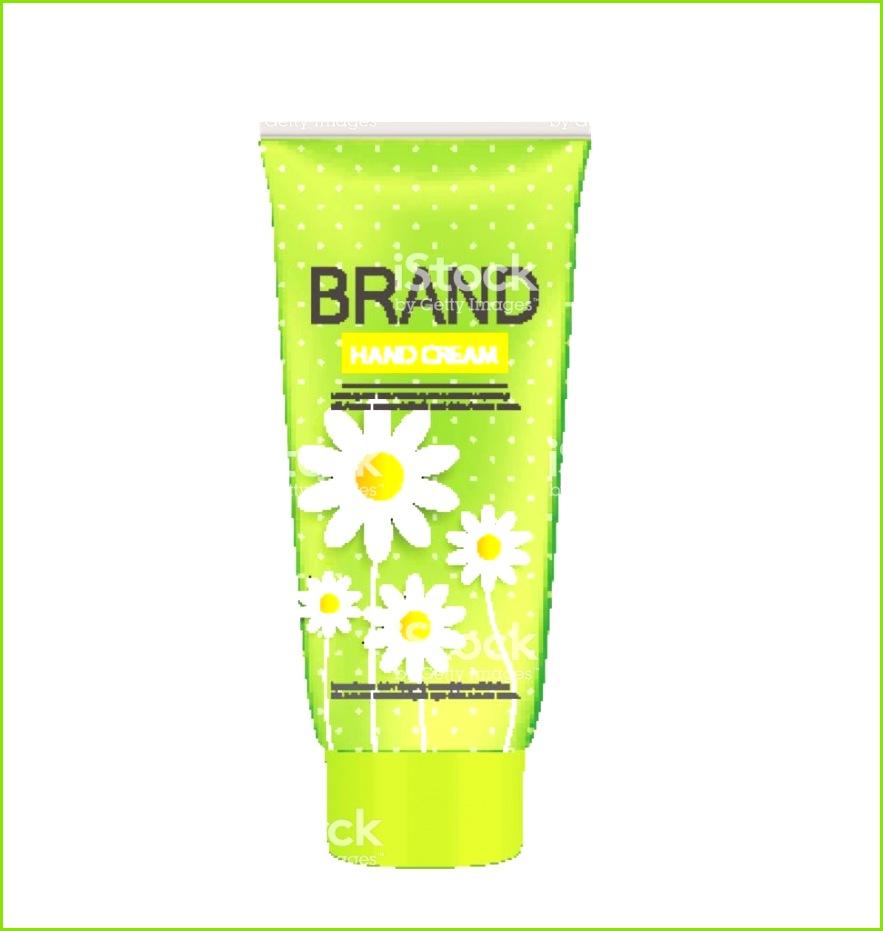 Hand Care Creme Flasche Rohr Vorlage für anzeigen oder Magazin Backgr Lizenzfreies hand care