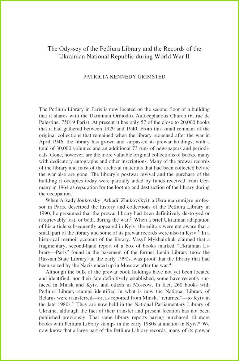 PDF Roads to Ratibor Library and Archival Plunder by the Einsatzstab Reichsleiter Rosenberg