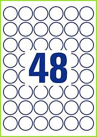 Avery Zweckform L4716REV 20 Wetterfeste Etiketten A4 960 Stück ablösbar ˜ 30 mm 20 Blatt weiß Amazon Bürobedarf & Schreibwaren