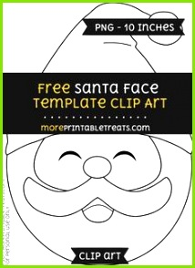 Free Santa Face Template Clipart