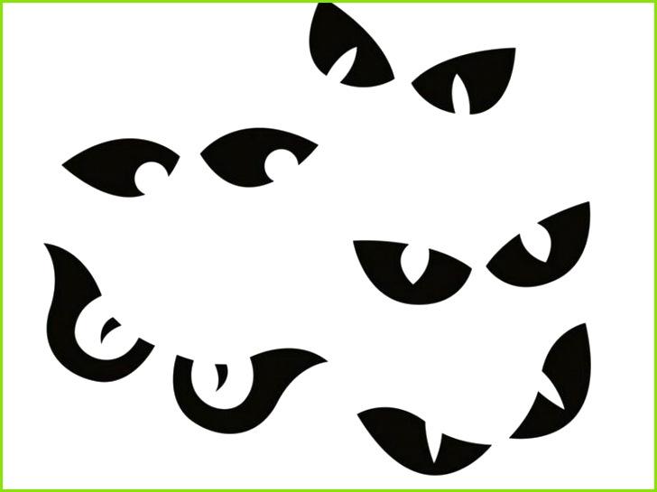 Halloween dynia rzeźbi szablony oczy