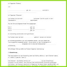 trennungsvereinbarung muster bild Download Scheidungsvereinbarung