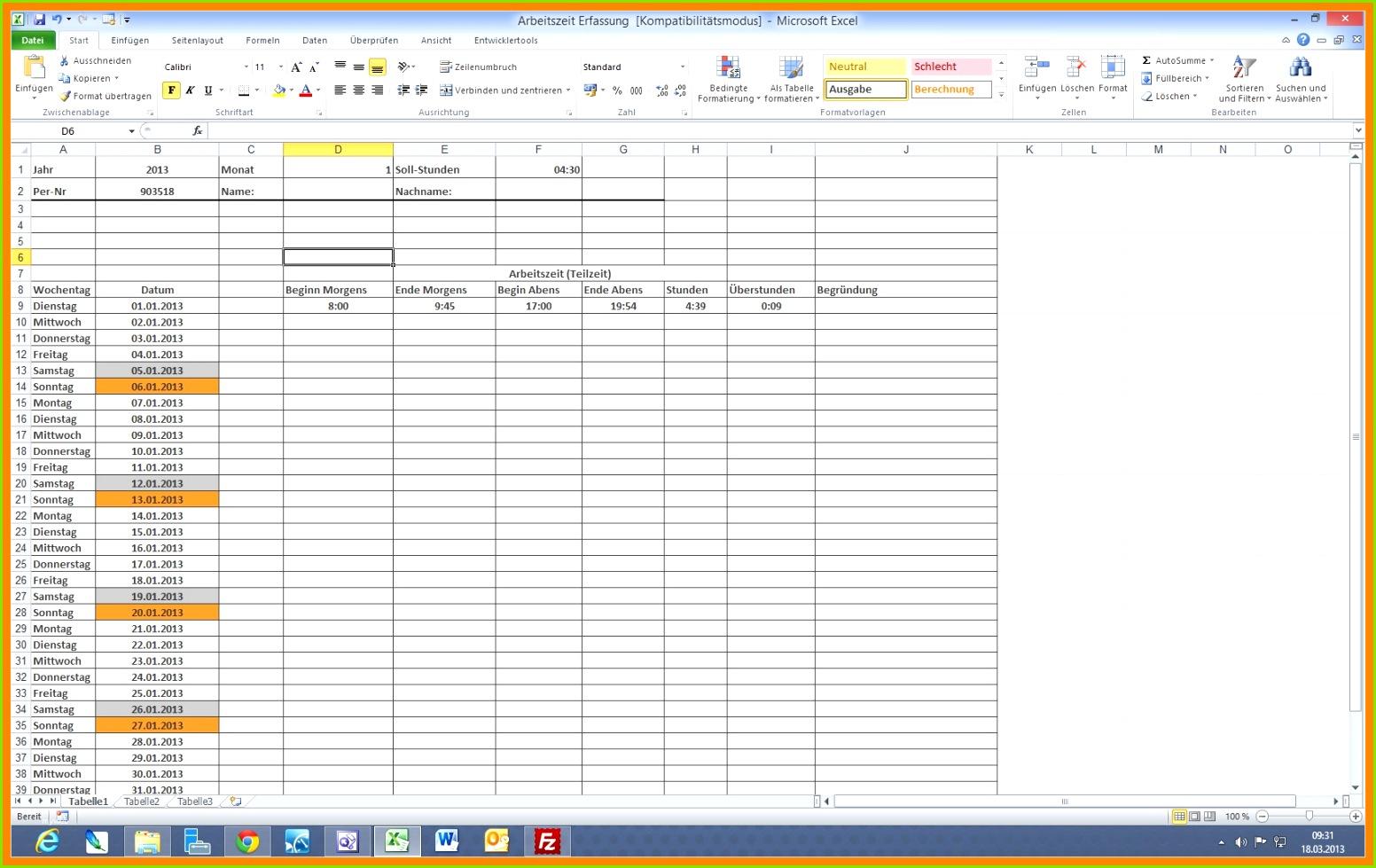 9 Schichtplan Excel Kostenlos