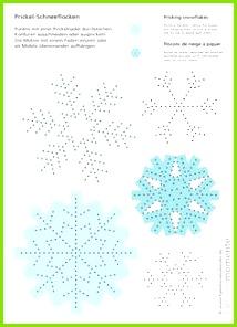 Schneeflocken zum Prickeln Bastelbogen für ein winterliches Deko Mobile