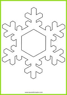 sagoma fiocco neve addobbi inverno