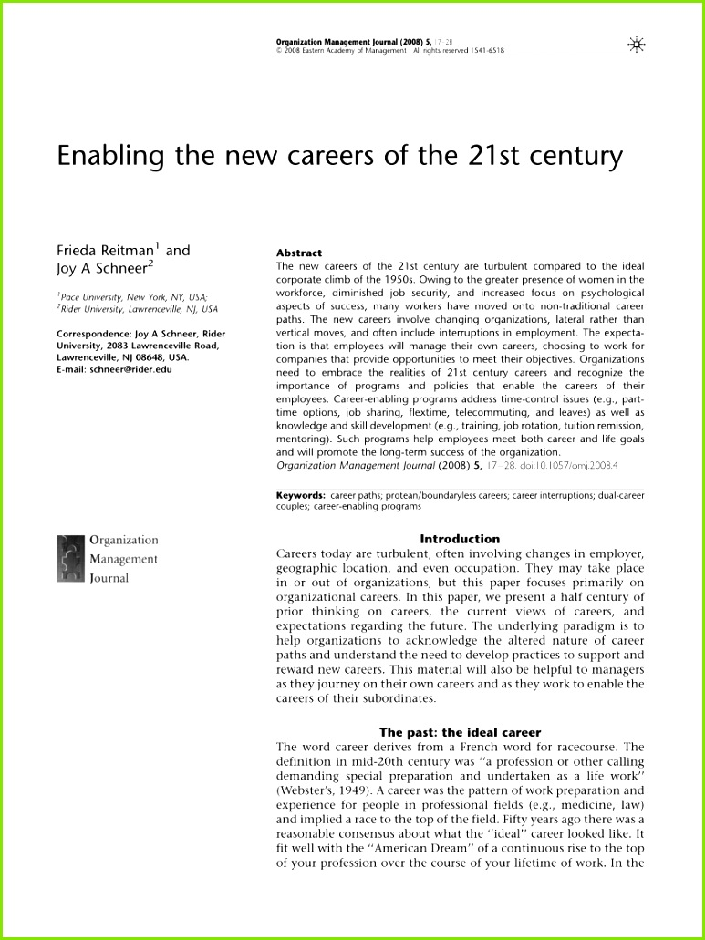 PDF Enabling the new careers of the 21st century