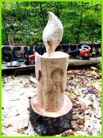 Skulpturen Aus Holz Schnitzereien Holz Ideen Schnitzen Kerzen Natur Wolle