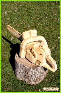 Motorsäge Material Fichte motorsäge holz carving green chainsaw