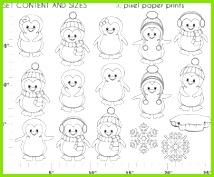 Cool Penguins Digital Stamps Weihnachten Bilder Stempeln Fensterbilder Vorlagen Winter Weihnachten Kreativ