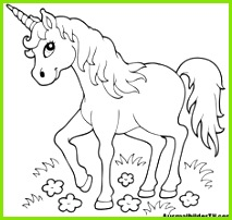 New Coloring page coloring book Einhorn for coloring Bea · Schrumpffolie