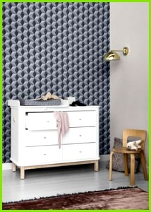 Wood six drawer dresser in white by Oliver Furniture