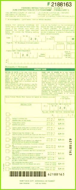 """F"" Parking Ticket – Federal ticket"
