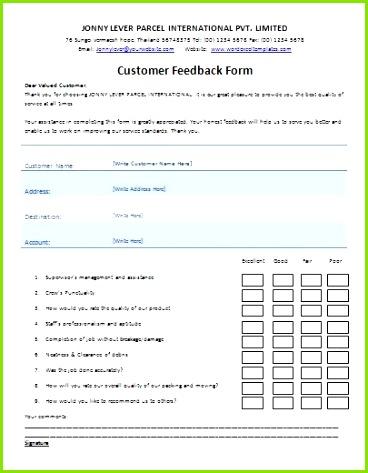 Customer Feedback Form Template