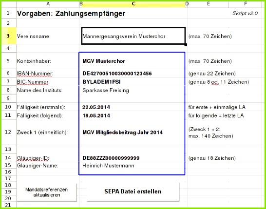 SEPA Lastschriften SEPA direct debits