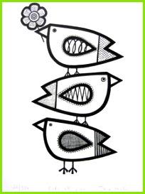 jane foster Siebdruck Stempel Keramik Drucken Muster Tiere Basteln