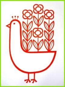 Image of Jane Foster Flowery Peacock Screenprint Zeichnen Leicht Pfau Stempel Siebdruck