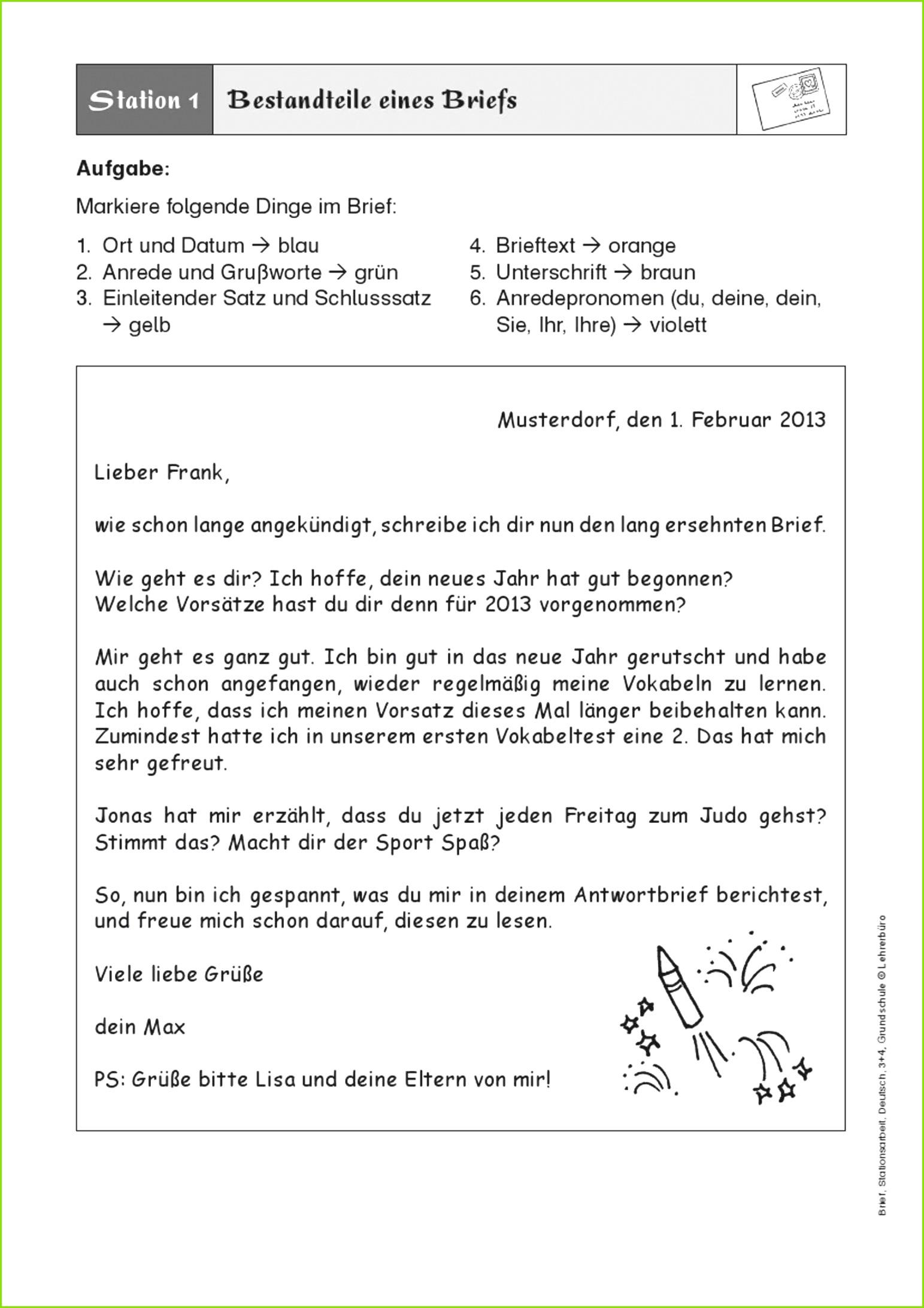 Bildergebnis für brief schreiben 3 klasse Brief Schreiben Vorlage – Sky Sonderkündigung Vorlage