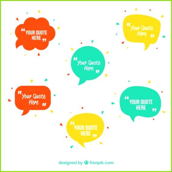 Sprechblasen Vorlage Kostenlose Vektoren