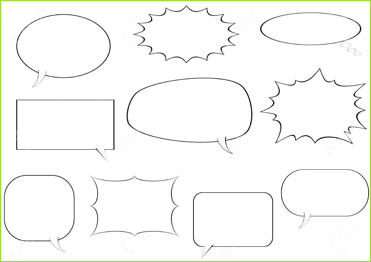 Schwarz Weiß ic Sprechblasen Vorlage Vektor Illustration Standard Bild