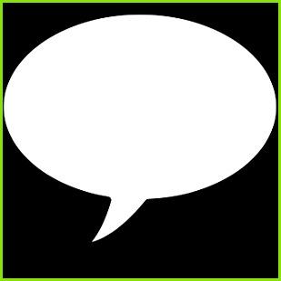 Sprechblase Vorlage Icon ic