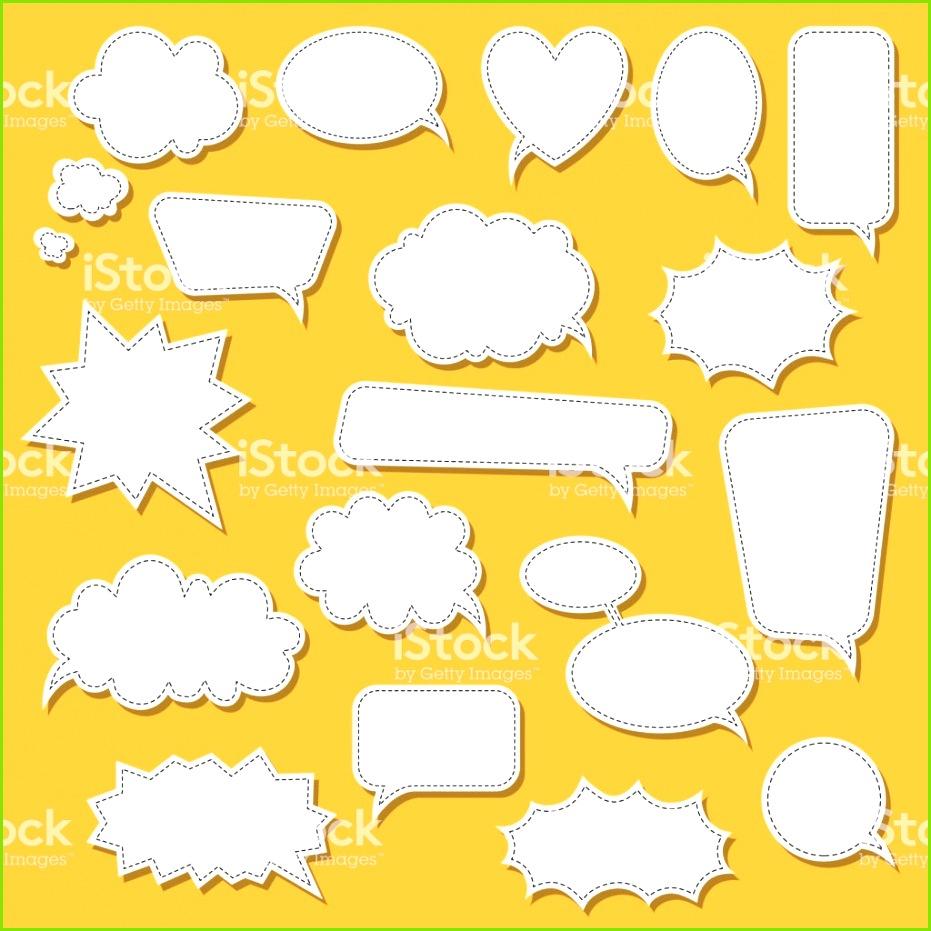 Satz von Cartoon doodle Sprechblasen Vorlage für Werbung ics Webdesign Druck Lizenzfreies