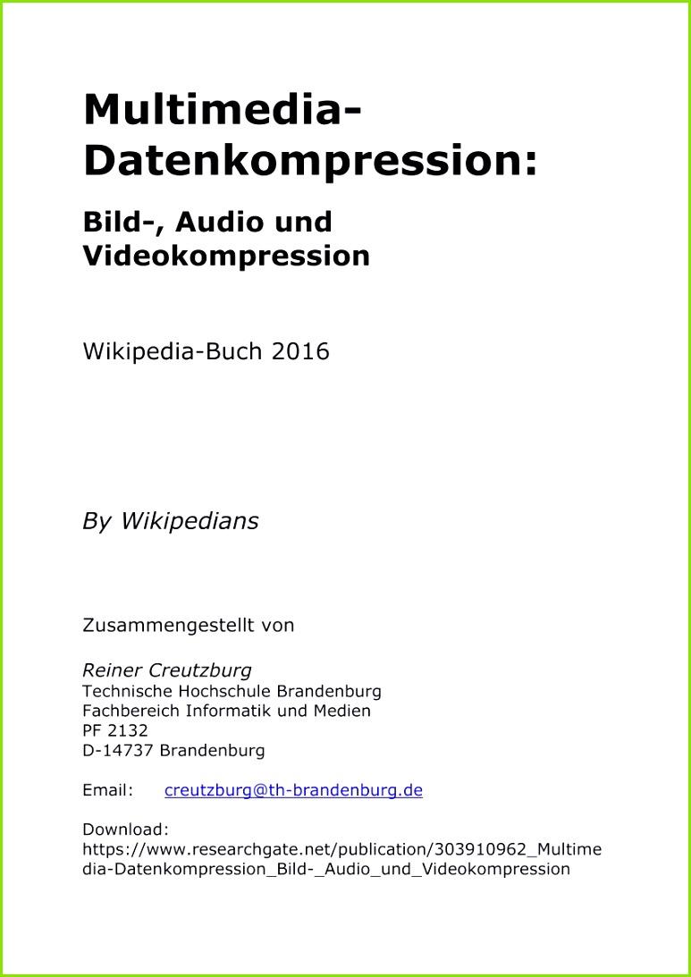 PDF Multimedia Datenkompression Bild Audio und Videokompression PDF Multimedia Datenkompression Bild Audio und Videokompression – Stärken Schwächen Analyse