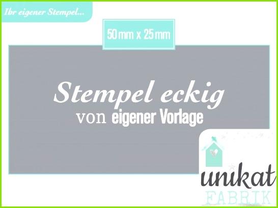Eigener Stempel im Format 50 x 25 mm von Datei Zeichnung