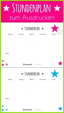 Stundenplan zum Ausdrucken kostenlose Vorlage miomodo Blog