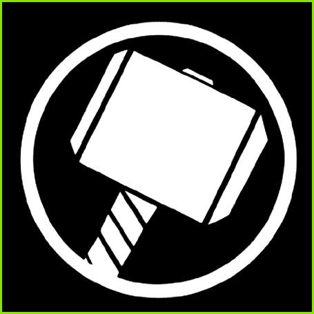 Thor Hammer Logo Decal Runen Geburtstage Superheldenlogos Superhelden Party Superheld Logo